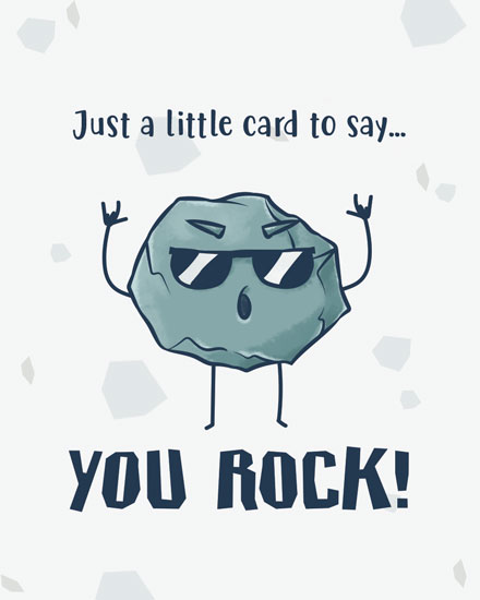 thinking of you card you rock
