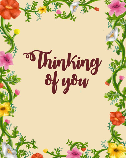 thinking of you card flower frame