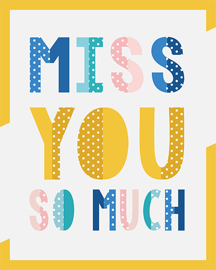 thinking of you card miss you so much