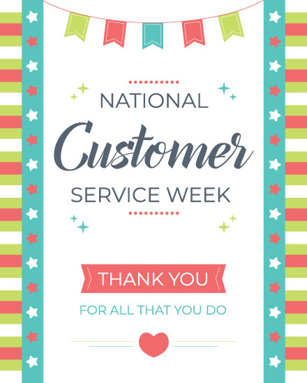 thank you card national customer service week