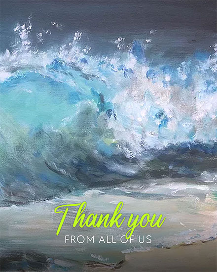 thank you card nature painting