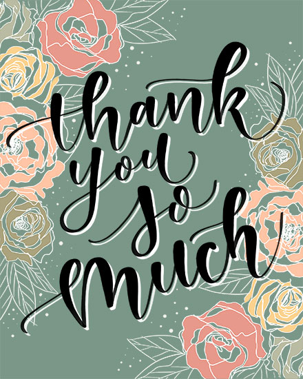 thank you card bouquet backdrop