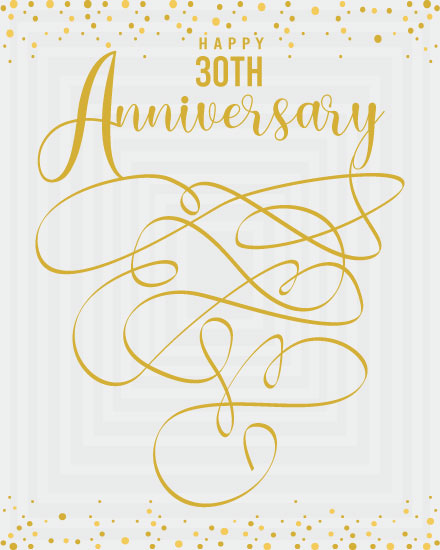 wedding anniversary card 30th anniversary ribbon