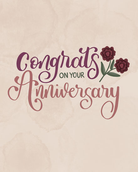 wedding anniversary card congrats on your anniversary