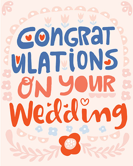 wedding card congratulations on your wedding