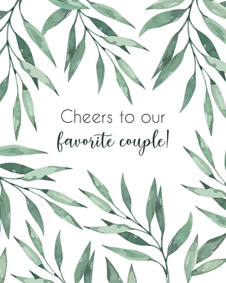 wedding card cheers to our favorite couple