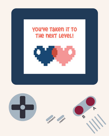 wedding card youve taken it to the next level video game