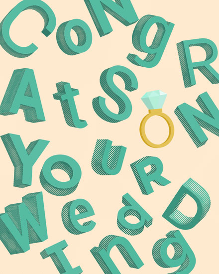 wedding card congratulations on your wedding jumbled letters