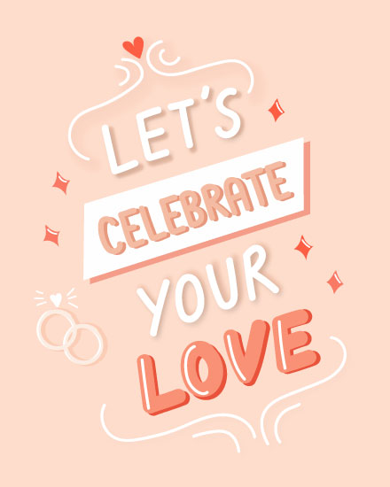 wedding card lets celebrate your love