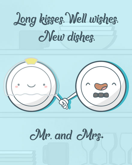 wedding card new dishes mr and mrs