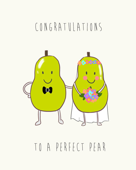 wedding card perfect pear