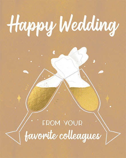 wedding card happy wedding from your favorite colleagues