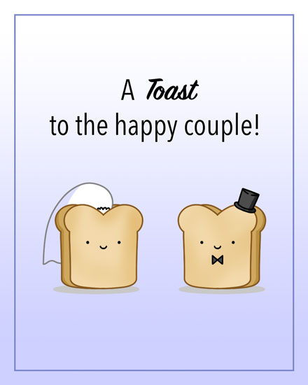 wedding congratulations card toast to happy couple