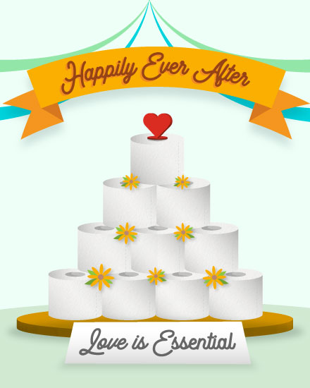 wedding card toilet paper wedding cake