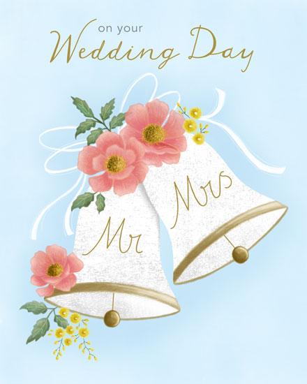 wedding card mr and mrs wedding bells