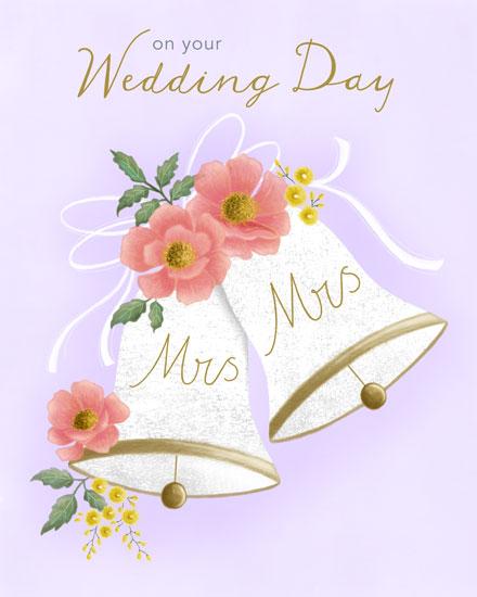wedding card mrs and mrs wedding bells