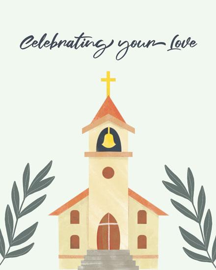 wedding card celebrating your love wedding chapel