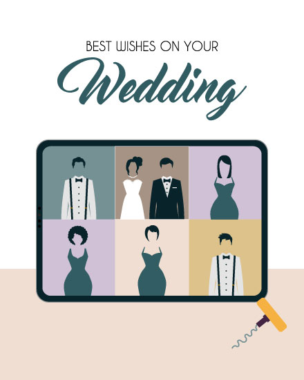 wedding card zoom wedding