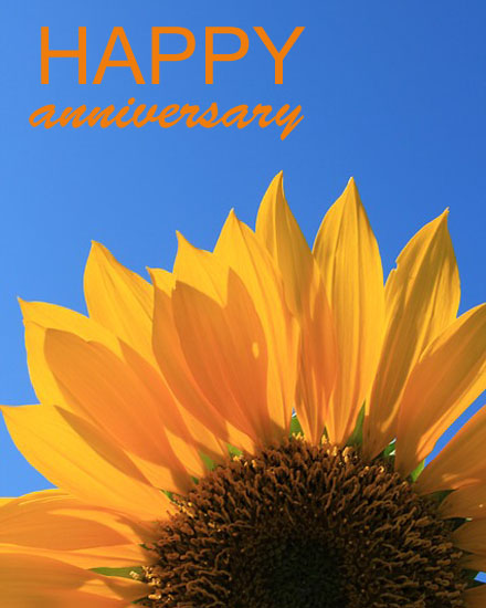 anniversary card sunflower