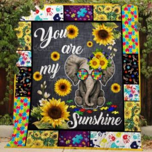 You Are My Sunshine Style Two Quilt Blanket