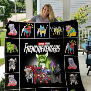 French Bulldog Avengers Quilt Blanket