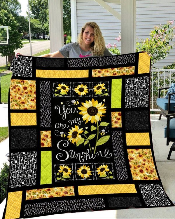 You Are My Sunshine Style Three Quilt Blanket