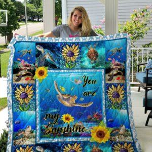 Turtle - You are my sunshine Quilt New