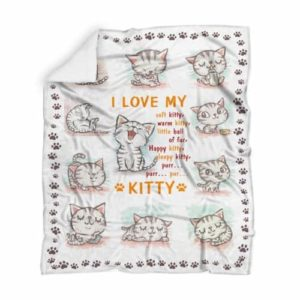 I love cats – Blanket