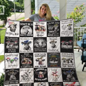 COW Quilt Blanket for Fans