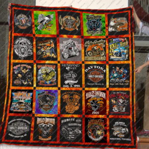 Harley Davidson Tshirt Printquilt- Made To Order - Married date Aug, 3, 1990