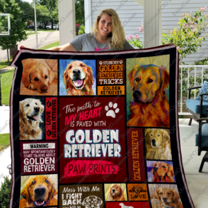 Goleden Retriever Quilt Blanket