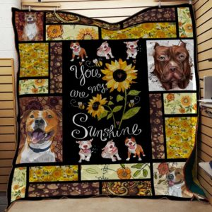 Pitbull - You are my sunshine Quilt Blanket