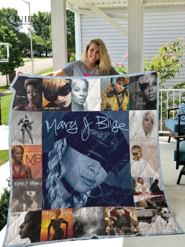Mary J. Blige Albums Quilt Blanket For Fans Ver 17