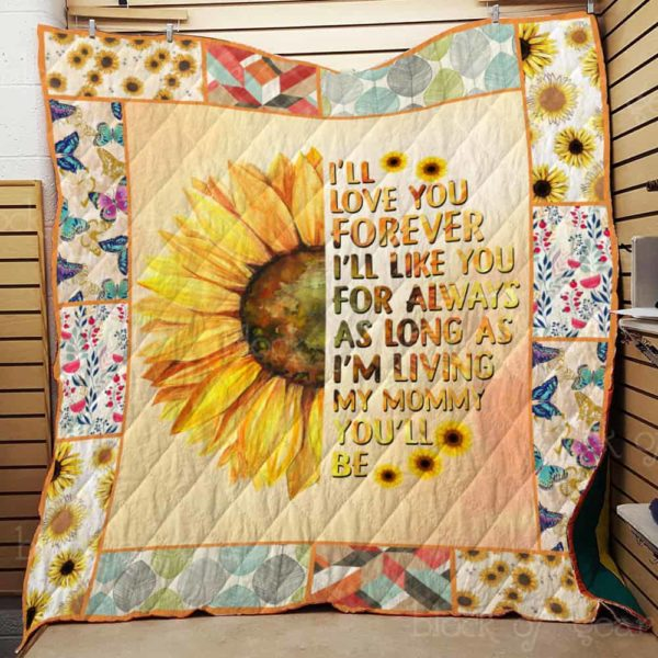 I Love You, Mom - Mother Day Gifts for Mom Quilt Blanket