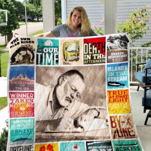 Ernest Hemingway Quilt Blanket 01032