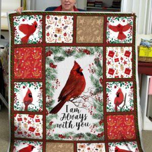 CARDINAL BIRD - I Am Always With You Quilt