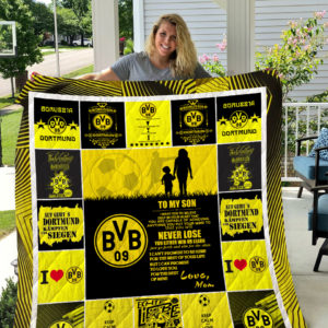 Borussia Dortmund – TO MY SON – LOVE MOM Quilt