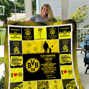 Borussia Dortmund – TO MY GRANDSON – LOVE GRANDPA Quilt