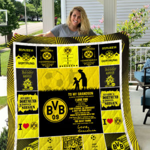 Borussia Dortmund – TO MY GRANDSON – LOVE GRANDMOM Quilt