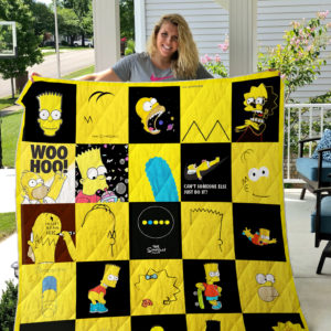The Simpsons Quilt Blanket