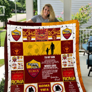 A.S. Roma – TO MY SON – LOVE DAD Quilt