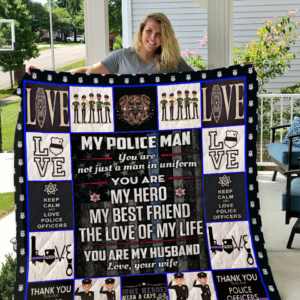 Police (Wife to Husband) Quilt Blanket I1D1
