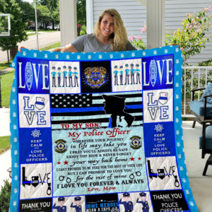 Police – TO MY SON – LOVE MOM Quilt