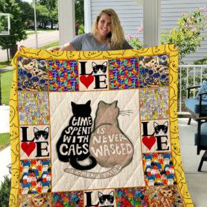 Cat 1 Quilt Blanket I1D1