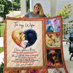 LION- WIFE Quilt Blanket 01