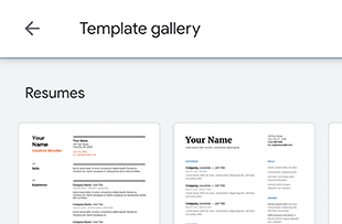 Create a resume with Google Docs