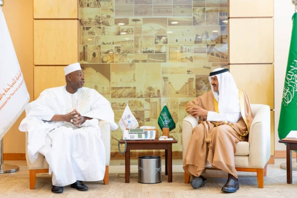 Hon. Amat Bah with His Royal Highness Prince Sultan Bin Salaman Bin Abdulaziz Al-Saud