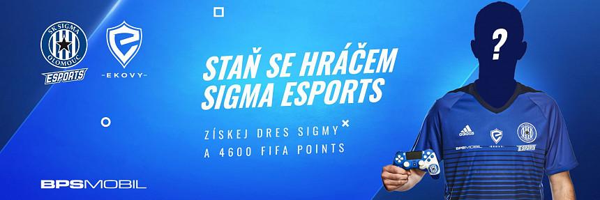 Staň se hráčem SK Sigma Olomouc esports !FIFA22 PS5!