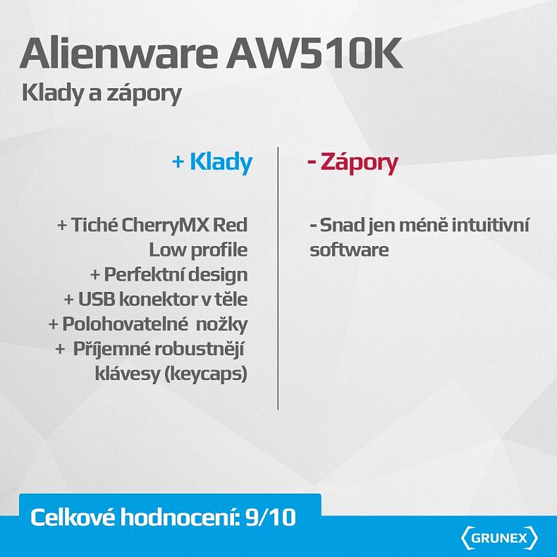 Recenze Alienware herní klávesnice mechanická