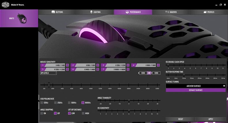 Cooler Master herní myš lehká software